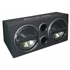 "Phoenix Gold Z Series- Twin 12"" Active subwoofer bass-box with built in amp"