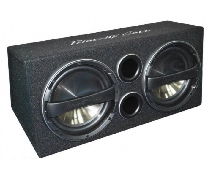 """Phoenix Gold Z Series- Twin 12"""" Active subwoofer bass-box with built in amp"""