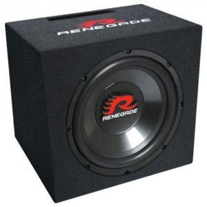 "Renegade RXV-1200 12"" Bass Speaker Single-Bassreflex-System"