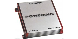 CRUNCH P1-650.2 2-CHANNEL 600W CLASS A/B POWERONE SERIES