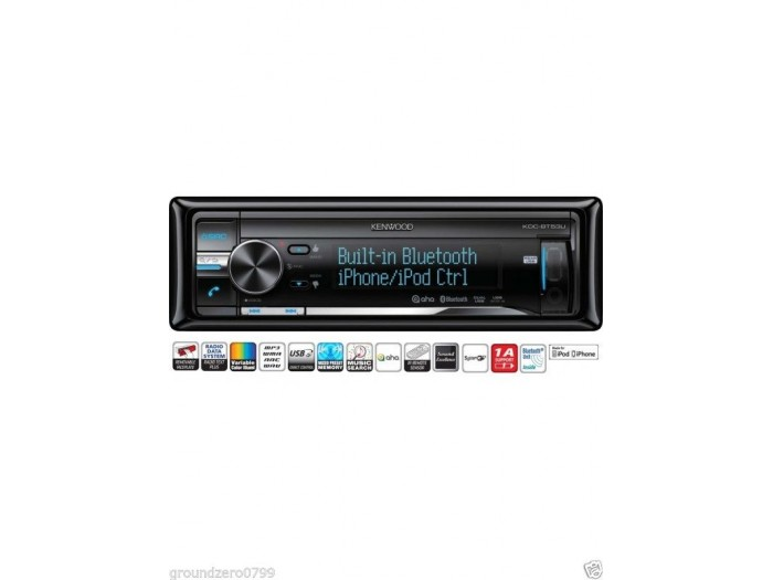 KENWOOD KDC-BT53U BLUETOOTH VW UPGRADE CAR STEREO IPOD FULL CONTROL USB AND AUX INPUT