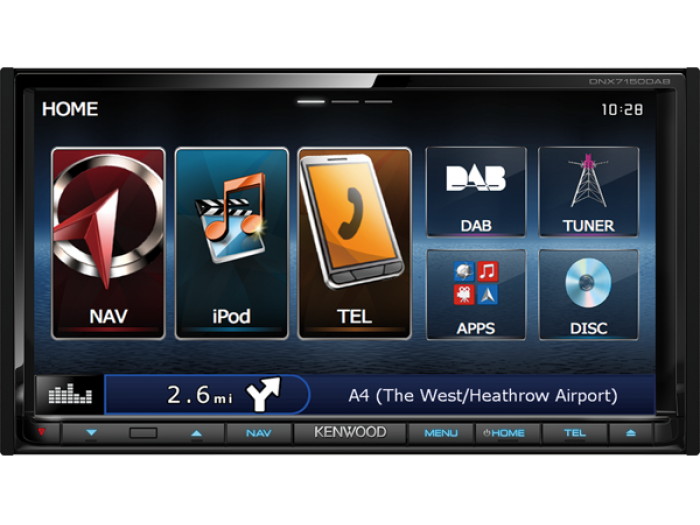 "Kenwood DNX7150DAB 7"" Navigation, USB, DAB, Bluetooth."
