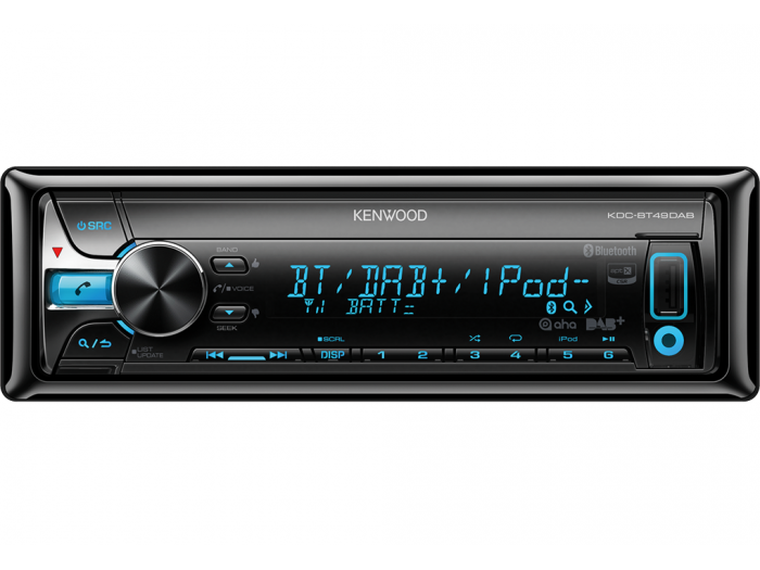 Kenwood KDC-BT49DAB BT/CD/MP3/USB/DAB Tuner with DAB antenna
