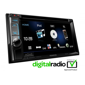"Kenwood DDX5016DAB - 6.2"" WVGA Touch Screen Double Din Tuner DAB+/ BT/ CD/ MP3/ USB/ DVD"