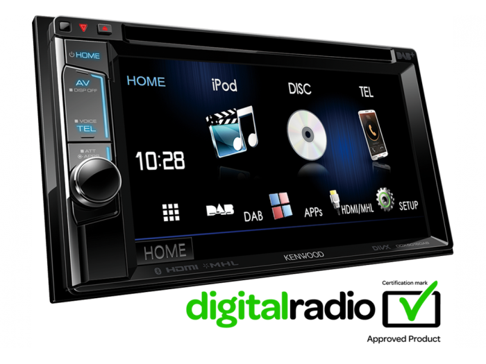 "Kenwood DDX8016DABS 6.2"" WVGA Touch Screen DAB+ BT CD MP3 USB DVD CarPlay With FREE DAB Aerial"