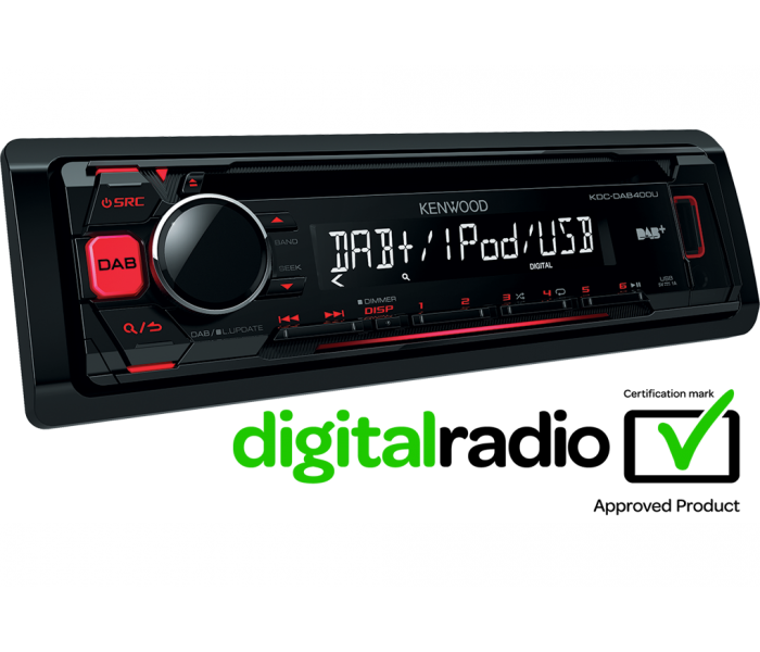 Kenwood KDC-DAB400U DAB Stereo iPhone Android USB CD MP3