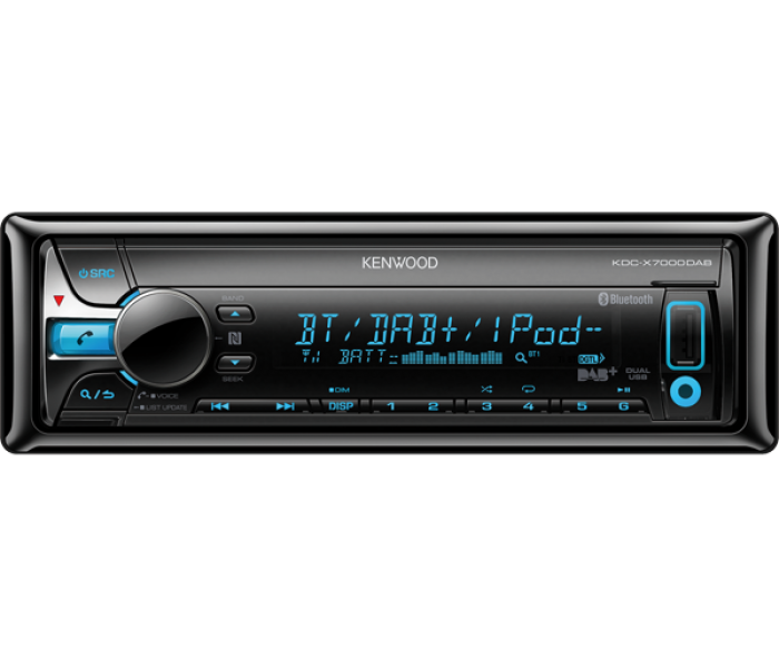 Kenwood KDC-X7000DAB CD receiver with DAB, Bluetooth & USB