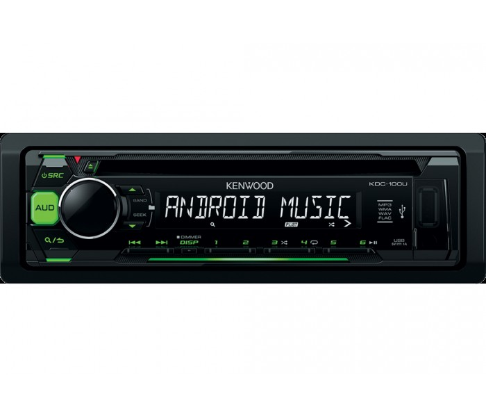 Kenwood KDC-100UG - CD/MP3, Front USB, Front AUX