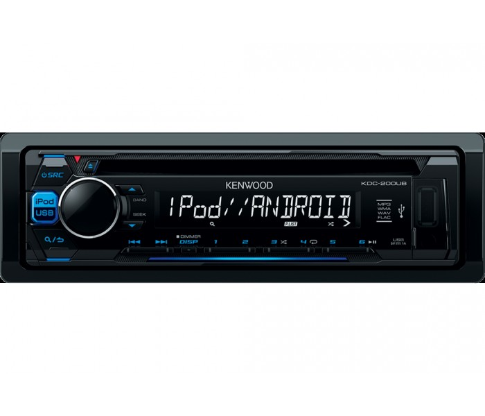 Kenwood KDC-200UB - CD/MP3, Front USB, Front AUX/iPod