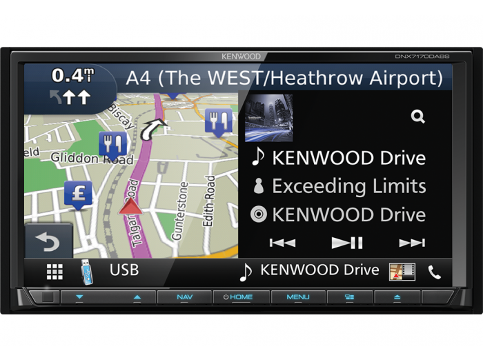 Kenwood DNX7170DABS built in navagation DAB Apple CarPlay android auto