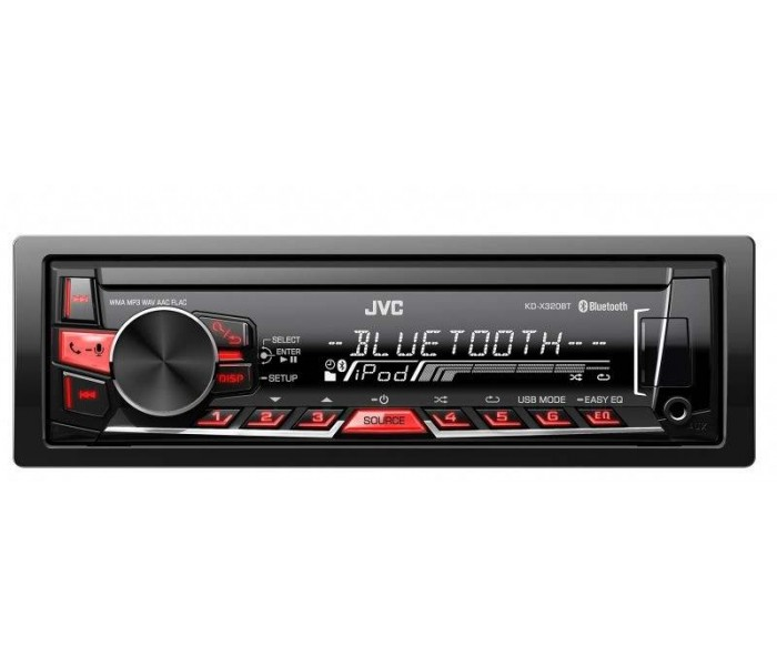 JVC KD-X320BT Digital Media Receiver with Bluetooth and Front USB/AUX