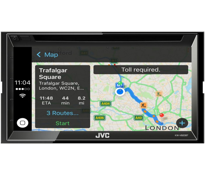 JVC KW-V820BT Touch Screen DVD Apple CarPlay Bluetooth Recieve