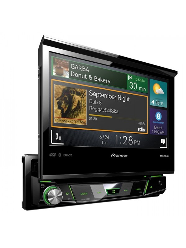 pioneer avh x7800bt 1 din 7 flip out multimedia player with bluetooth. Black Bedroom Furniture Sets. Home Design Ideas