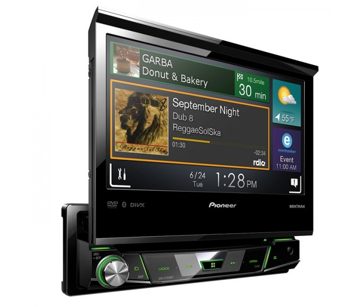 "Pioneer AVH-X7800BT 1 DIN 7"" Flip Out Multimedia Player with Bluetooth"
