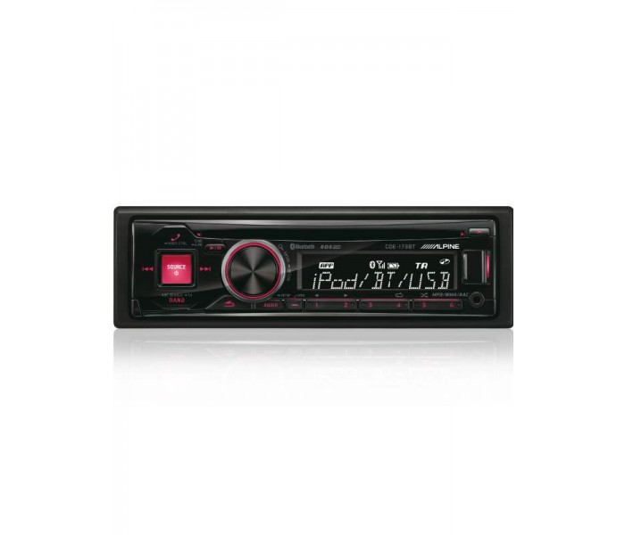 Alpine CDE-173BT Red Ill CD/MP3 Head unit with Bluetooth