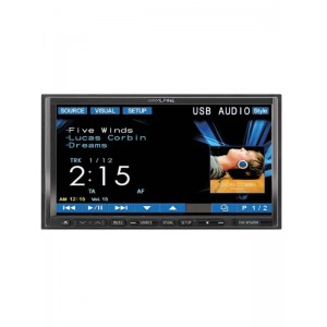 "Alpine IVA-W520R  7"" Double Din Multimedia Station Bluetooth Package KCE-400BT"