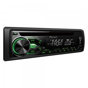 Pioneer DEH-1800UBG - Car stereo with RDS tuner, CD, USB and Aux-In