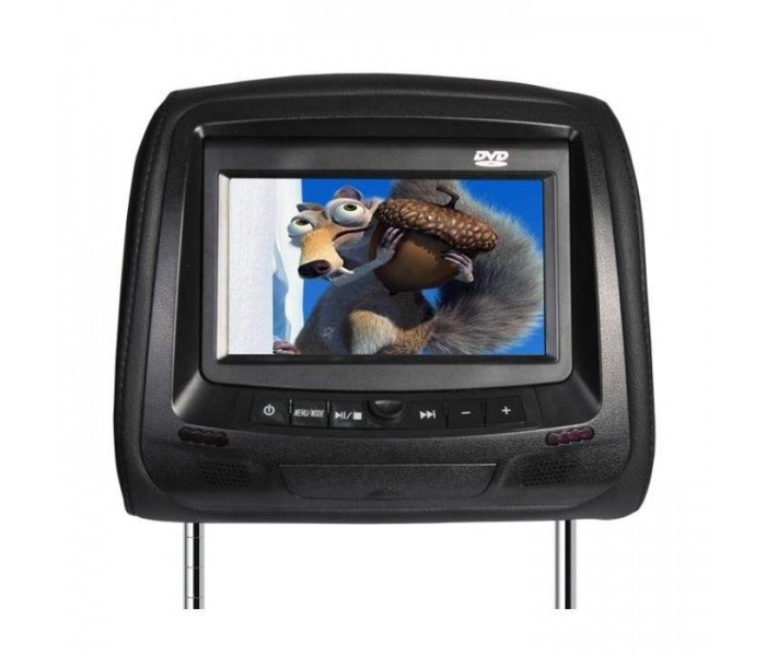 "In Phase IVM7DVD 7"" Headrest Monitor With Built In DVD Player"