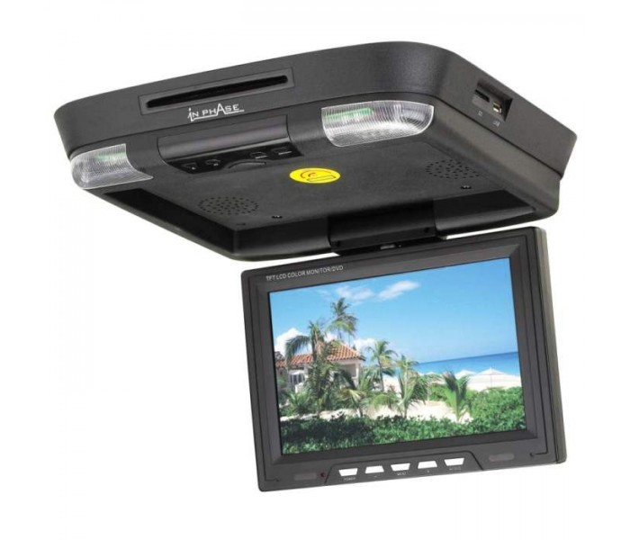 "In Phase IVR11 11"" Roof Mount DVD Entertainment System"