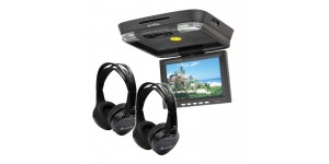 In Phase IVR11 Roof Mount Rear Entertainment System with 2 x In Phase IVMH Headphones