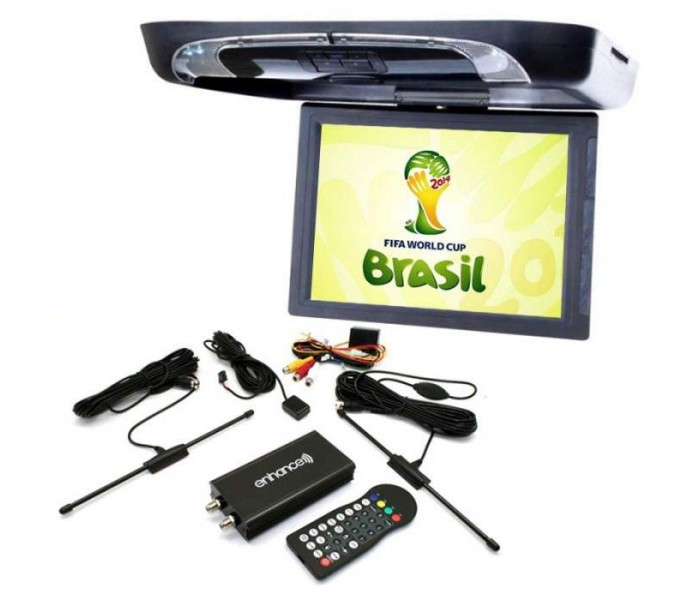 "In Phase IVR15 15"" Roof mount DVD Entertainment System Package With DVB Digital TV Tuner"