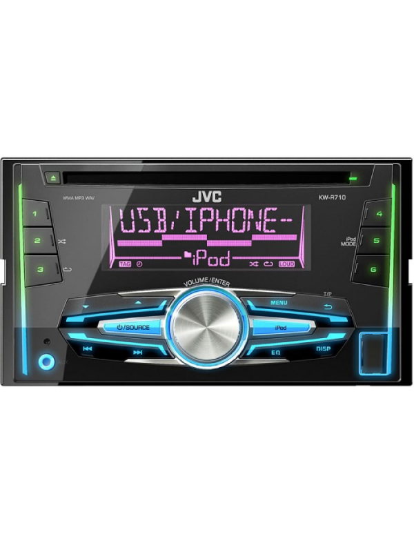jvc kw r710 cd mp3 double din head unit. Black Bedroom Furniture Sets. Home Design Ideas