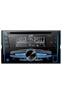 JVC KW-R520 - Double DIN CD Receiver with Front USB/AUX Input