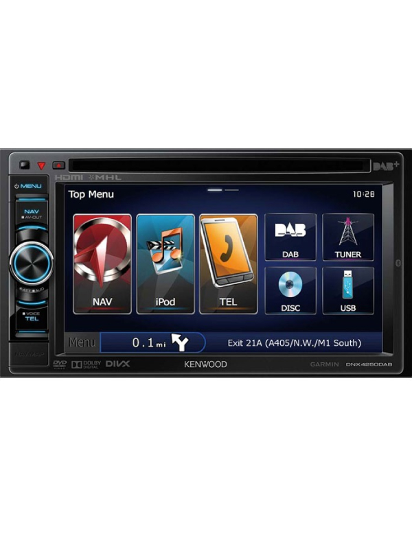 kenwood dnx 4250dab 7 double din navigation system. Black Bedroom Furniture Sets. Home Design Ideas