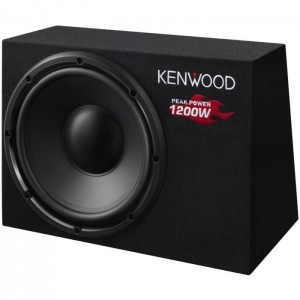 "Kenwood KSCW1200B 12"" 1200W Box-Type Passive Subwoofer"