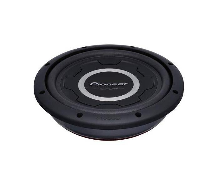 "Pioneer TS-SW2501S4 1200W 10"" single 4Ω VC Shallow Subwoofer"