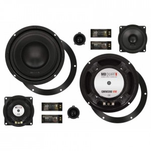 "MB Quart QM200.3 GOLF V - 20cm 8"" 3-Way Custom Fit Component Speakers for VW Golf V"