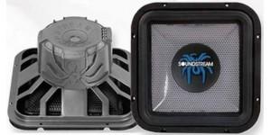 "Soundstream TSQ-122 - 12"" Dual 2 ohm TSQ Series Square Subwoofer"