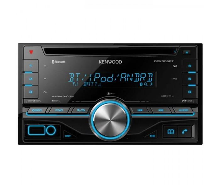Kenwood DPX-306BT Double DIN CD/USB-Receiver with iPod Direct Control