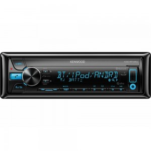 KENWOOD KDC-BT45U SINGLE DIN BLUETOOTH AUX USB IPOD IPHONE ANDROID CD