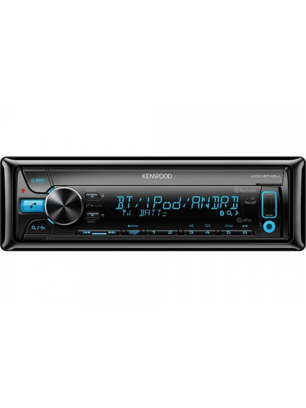 tanby car audio kenwood kdc bt45u single din bluetooth aux usb ipod iphone android cd