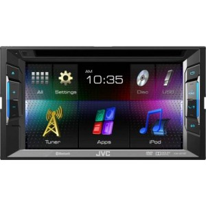 "JVC KW-V21BT - 6.2"" Double DIN CD/DVD/USB with Bluetooth"