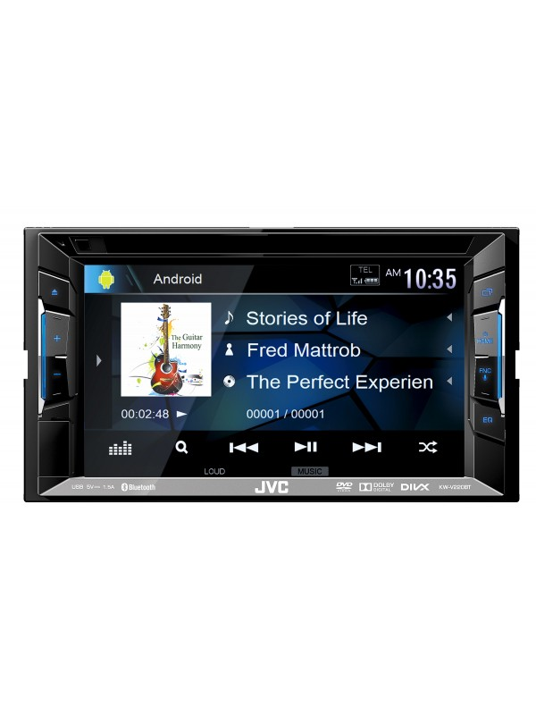 jvc kw v220bt 6 2 double din cd dvd usb with bluetooth. Black Bedroom Furniture Sets. Home Design Ideas