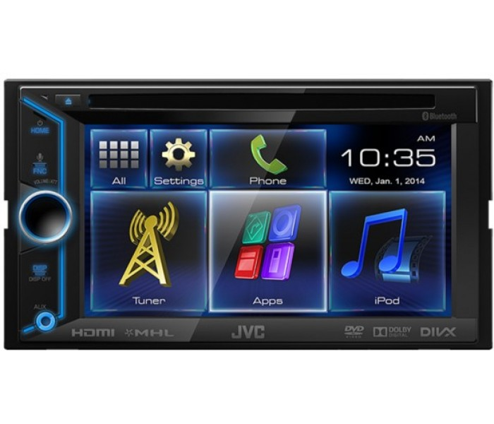 "JVC KW-V31BT 6.1"" double din stereo AV system with built in Bluetooth"