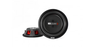 "MB Quart DS1-204 400W 8"" Discus Series Dual 4-ohm Shallow Mount Car Subwoofer"