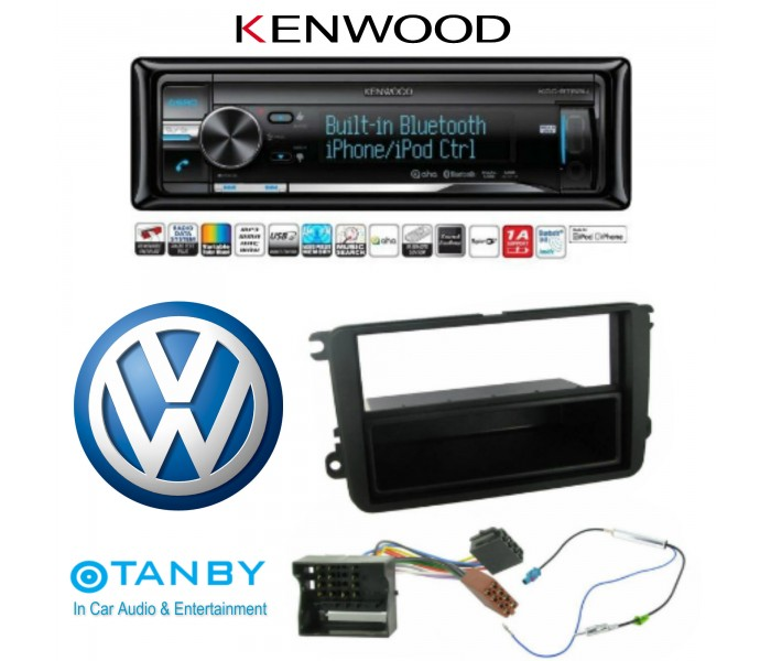 KENWOOD KDC-BT53U BLUETOOTH VW UPGRADE CAR STEREO  IPOD FULL CONTROL USB AND AUX INPUT