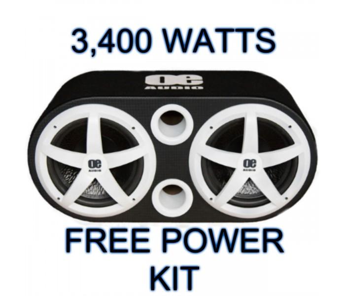"OE AUDIO 12"" Double Twin 3400 watts Subwoofer Buit In Amplifer"
