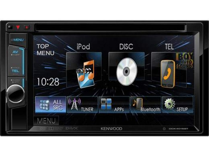"Kenwood DNX4150BT 6.2"" WVGA DVD-Receiver with built-in Navigation System & Bluetooth"